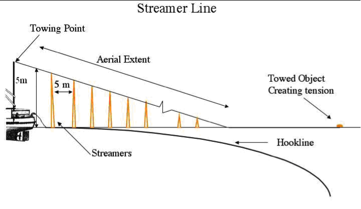 Figure 1. Diagram of Bird-scaring Streamer Line